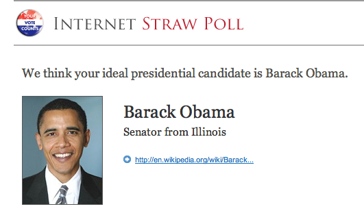 Internet Straw Poll