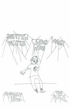 Jupiter Watts - Luigi - Drug Rug flyer
