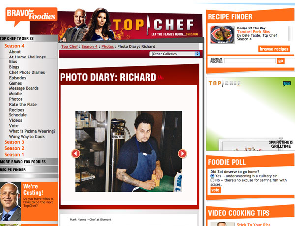 Top Chef site