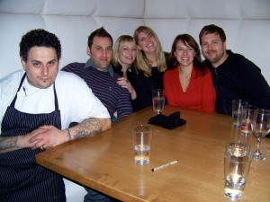 the gang with chef baby
